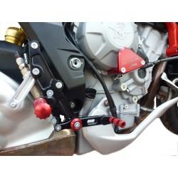 PEDANE ARRETRATE REGOLABILI 4 RACING MODELLO RACE PER MV AGUSTA RIVALE 800 2014/2018 (comando standard)