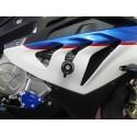COPPIA TAMPONI DI PROTEZIONE CARENA 4-RACING CON STAFFA PER BMW S 1000 RR 2012/2014