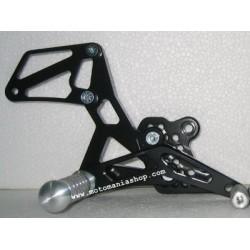 PEDANE ARRETRATE REGOLABILI 4-RACING PER SUZUKI GSX-R 600 2001/2005, GSX-R 750 2000/2005, GSX-R 1000 2001/2004