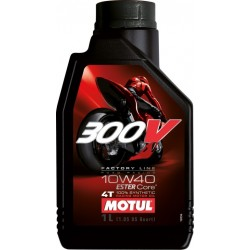 LUBRICANT OIL RACING MOTUL 300V 10W40 FOR 4-STROKE ENGINES