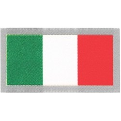 ITALIAN FLAG FABRIC ADHESIVE PATCH 7,8 x 4,2 cm.