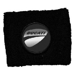BRAKE OIL TANK PROTECTION CUFF WITH DUCATI EMBLEM, BLACK COLOR