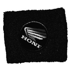 BRAKE OIL TANK PROTECTION CUFF WITH HONDA EMBLEM, BLACK COLOR