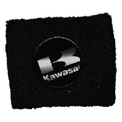 BRAKE OIL TANK PROTECTION CUFF WITH KAWASAKI EMBLEM, BLACK COLOR
