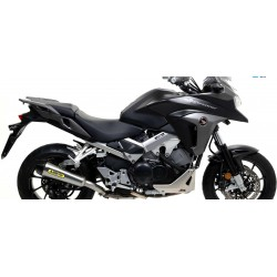EXHAUST SILENCER ARROW X-KONE IN STEEL WITH CARBON BASE FOR HONDA CROSSRUNNER 800 2015/2020, APPROVED
