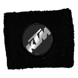 BRAKE OIL TANK PROTECTION CUFF WITH KTM EMBLEM, BLACK COLOR