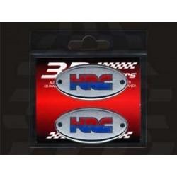 3D STICKER OVAL DECO HRC mm 56x28 2pcs.