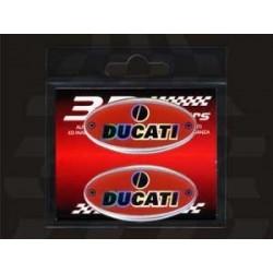 3D STICKER OVAL DECO DUCATI mm 56x28 2pcs.