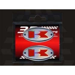 3D STICKER OVAL DECO KAWASAKI mm 56x28 2pcs.