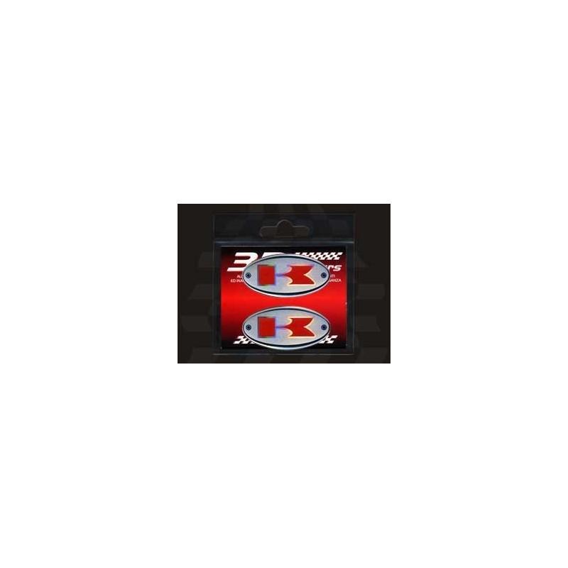 ADESIVO 3D OVALE DECO KAWASAKI mm 56x28 2pz.