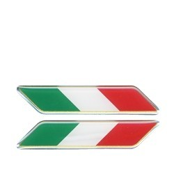 3D STICKER FLAG ITALY INCLINED mm 75x15 DX-SX 2PCS