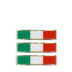 3D STICKER ITALY FLAG mm 60x10 3pcs.