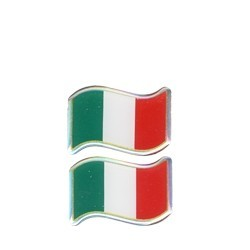 3D ADHESIVE ITALY WAVE FLAG mm 40x25 2pcs