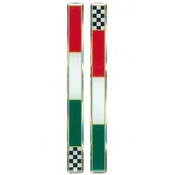3D STICKER ITALY FLAG SLIM CHESS mm 110x10 DX-SX 2PZ