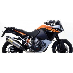EXHAUST SILENCER MAXI RACE-TECH ARROW IN TITANIUM CARBON BASE FOR KTM 1050 ADVENTURE 2015/2016, APPROVED