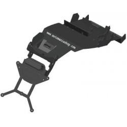 ADJUSTABLE ALUMINUM LICENSE PLATE SUPPORT WITH UNDER COVER FOR HONDA HORNET 600 2007/2010