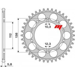 ALUMINIUM REAR SPROCKET FOR 520 CHAIN FOR HONDA INTEGRA 700 2012/2013, INTEGRA 750 2014/2020