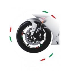 ADHESIVE EDGE FOR WHEEL RIM STRIPES WHEEL RIMS WHITE ITALY FLAG