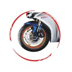 ADHESIVE EDGE FOR WHEEL RIM WHEELS RIM STRIPES RED WRITTEN RACING