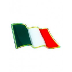 3D STICKER FLAG ITALY IN THE WIND mm 75 X 40