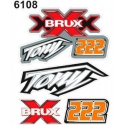 ADESIVO DECO KTM TONY 222 - STANDARD cm 10x12