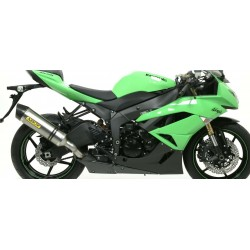 ALUMINIUM RACE-TECH ARROW EXHAUST TERMINAL WITH STEEL BACK FOR KAWASAKI ZX-6R 636 2013/2017, APPROVED