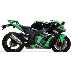 ARROW RACE-TECH ALUMINUM EXHAUST PIPE CARBON BASE FOR KAWASAKI ZX-10R 2016/2020, APPROVED