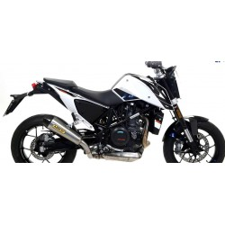 EXHAUST TERMINAL X-KONE ARROW IN TITANIUM WITH CARBON BASE FOR KTM DUKE 690 R 2016/2017, APPROVED