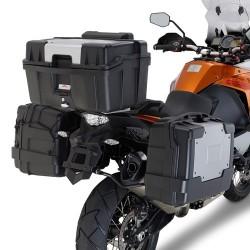 PORTAVALIGIE LATERALE AD AGGANCIO RAPIDO PLR7706 PER VALIGIE LATERALI MONOKEY PER KTM 1050 ADVENTURE 2015/2016