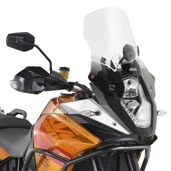 WINDSHIELD GIVI FOR KTM 1050 ADVENTURE 2015/2016, TRANSPARENT