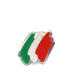 3D STICKER FLAG ITALY SHAPED 45x40 mm
