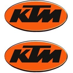 3D STICKER OVAL DECO KTM mm 56x28 2pcs.