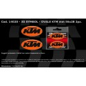 ADESIVO 3D OVALE DECO KTM mm 56x28 2pz.