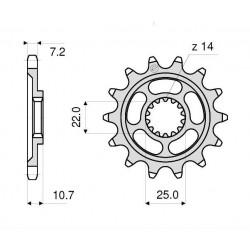 STEEL PIN FOR CHAIN 525 FOR MV AGUSTA BRUTAL 910 R/910 S/989 R/1090 RR/1078 RR