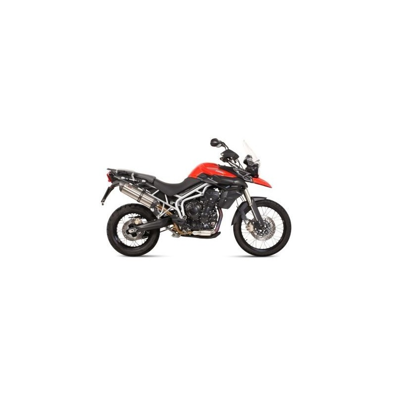 MIVV SOUND EXHAUST SYSTEM STEEL CARBON BASE FOR TRIUMPH TIGER 800 XC 2015/2017, TIGER 800 XR 2015/2017, APPROVED