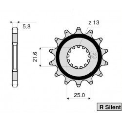 STEEL FRONT SPROCKET FOR ORIGINAL CHAIN 520 FOR YAMAHA YZF-R3 2015/2020