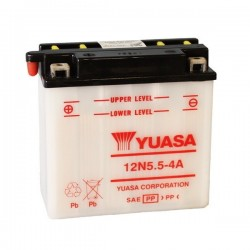 BATTERY YUASA 12N5.5-4A FOR YAMAHA YZF R-125 2014/2016