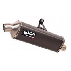 SPARK DAKAR EXHAUST TERMINAL IN CARBON FOR HONDA AFRICA TWIN 1000 2016/2019, APPROVED