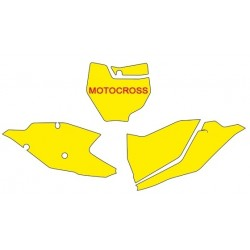 KIT ADESIVI PORTANUMERO BLACKBIRD MODELLO MOTOCROSS PER KTM SX/SX-F 2016/2018 (NO MINICROSS E NO SX 250 2T)