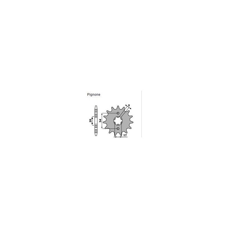 PIGNONE IN ACCIAIO PER CATENA 520 PER HONDA CRF 230 2007/2014