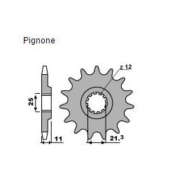 STEEL FRONT SPROCKET FOR CHAIN 520 FOR HUSQVARNA TC 250 2011/2013, WR 250 2001/2013 *, WR 300 2008/2013