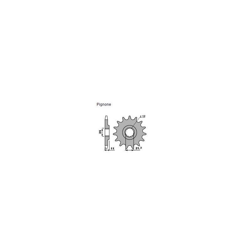 PIGNONE IN ACCIAIO PER CATENA 520 PER HUSQVARNA TC 510 2004/2010, TE 510 2004/2010, TE 610 2006/2009