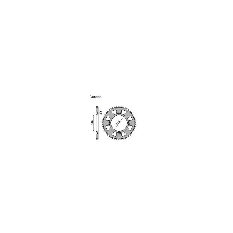 CORONA IN ACCIAIO PER CATENA 428 PER SUZUKI RM 85 2003/2018