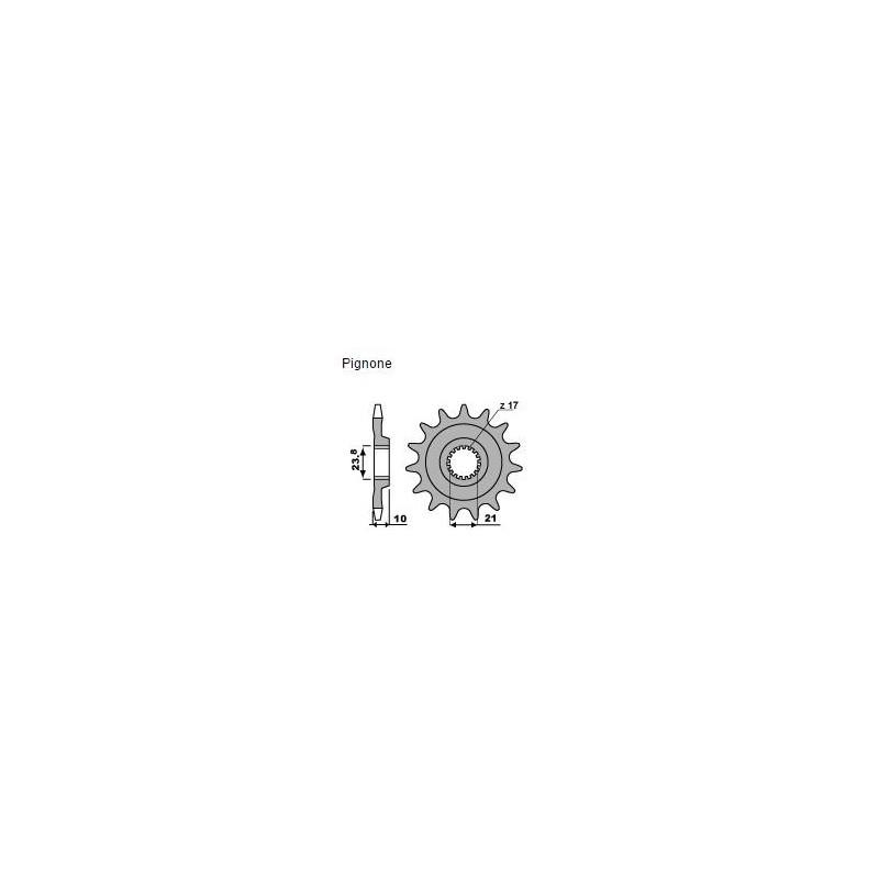 PIGNONE IN ACCIAIO PER CATENA 520 PER SUZUKI RM-Z 450 2013/2016*