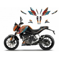 KIT ADESIVI BLACKBIRD GRAFICA ONE-RACE PER KTM DUKE 125 2011/2016, DUKE 200 2011/2016, DUKE 390 2014/2016
