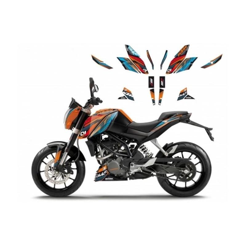 KIT ADESIVI BLACKBIRD GRAFICA ONE-RACE PER KTM DUKE 125 2011/2016, DUKE 200 2011/2016, DUKE 390 2014/2016