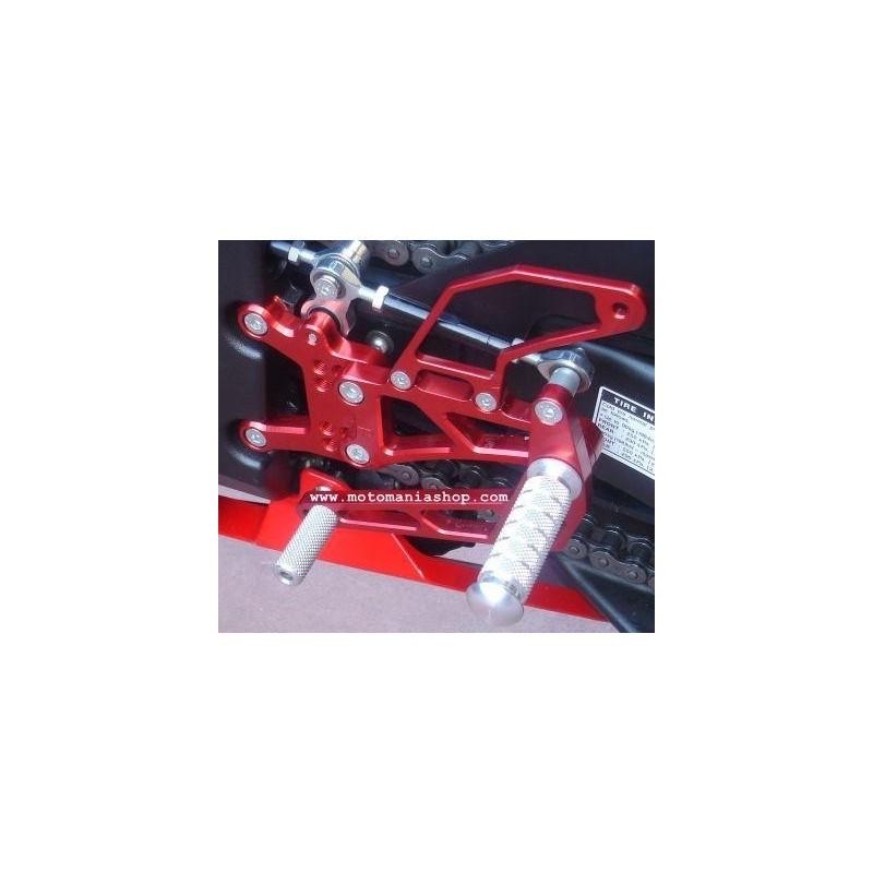 PEDANE ARRETRATE REGOLABILI 4 RACING PER YAMAHA R1 2007/2008 (cambio standard)