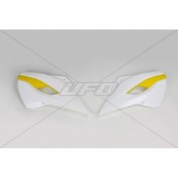 COPPIA FIANCHETTI RADIATORE COME ORIGINALE UFO PER HUSQVARNA TE 125/250/300 2014/2016, FE 250/350/450 2014/2016