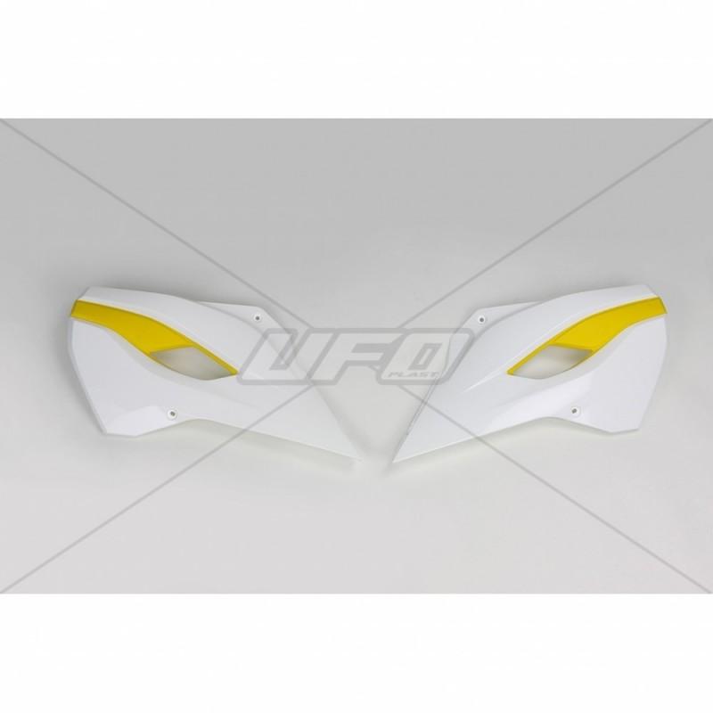 COPPIA FIANCHETTI RADIATORE COME ORIGINALE UFO PLAST PER HUSQVARNA TE 125/250/300 2014/2016, FE 250/350/450 2014/2016