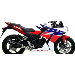 ARROW COMPLETE EXHAUST SYSTEM WITH RACE-TECH ALUMINUM DARK CARBON BASE FOR HONDA CBR 300 R 2014/2019